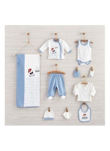 Nenny Baby Nenny Baby Nb104 Ayıcık Desenli Erkek Bebek Skate Bear 10' lu Hastane Çıkış Seti Gri